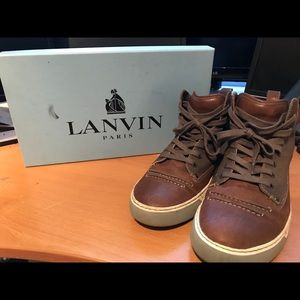 Lanvin high top military sneakers